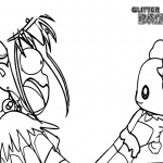 Glitter Force Coloring Pages Girl And Pet Free Printable Coloring