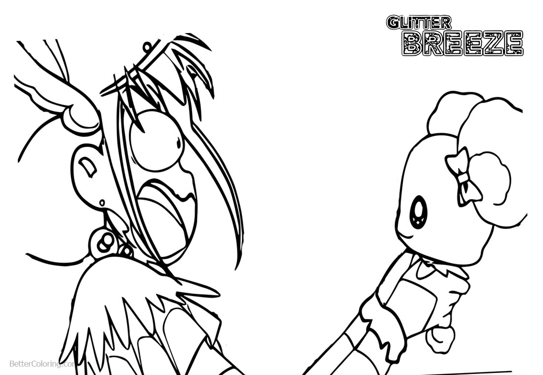 Glitter Force Coloring Pages Screaming printable for free