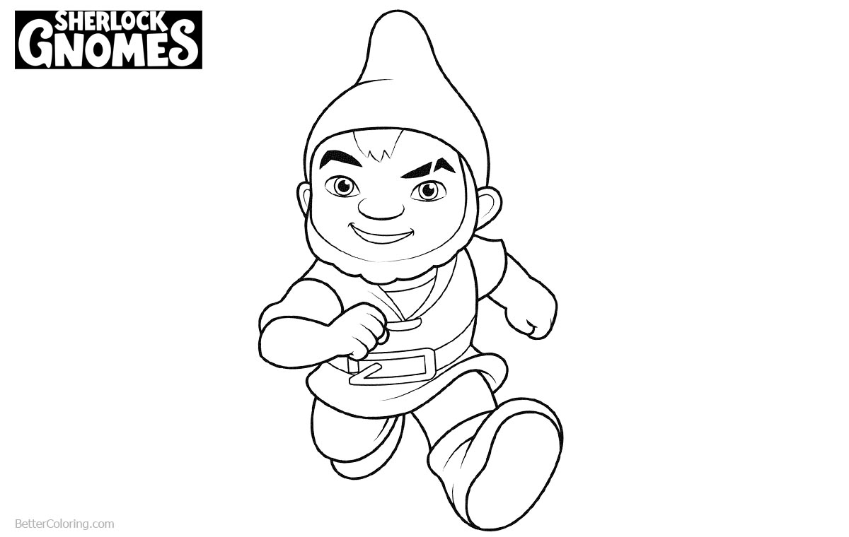 Gnomeo from Sherlock Gnomes Coloring Pages printable for free