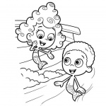 Goby and Deema from Bubble Guppies Coloring Pages