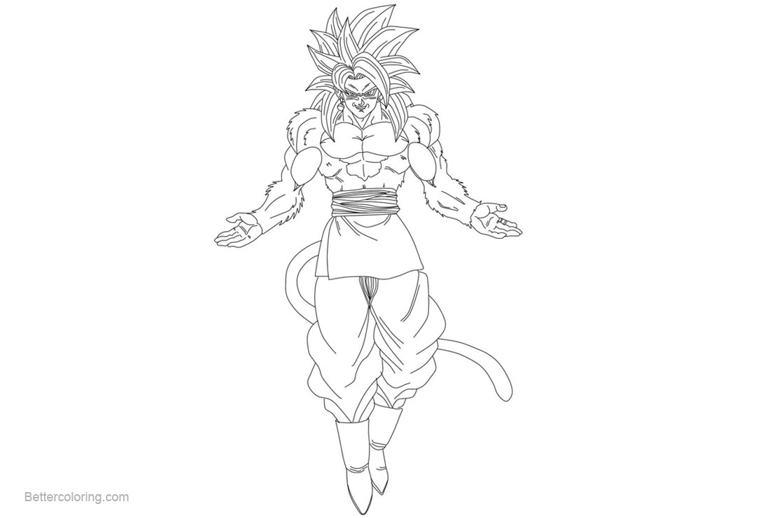 Free Goku Coloring Pages Super Saiyan by adulartz printable