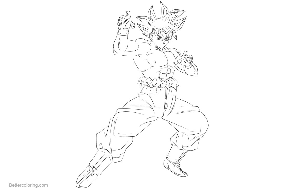 Free Goku Coloring Pages by kakarules printable