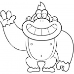 Gorilla Coloring Pages Cartoon Style