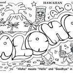 Graffiti Coloring Pages Aloha