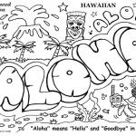 Graffiti Coloring Pages Aloha