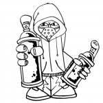 Graffiti Coloring Pages Black and White