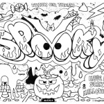 Graffiti Coloring Pages Halloween