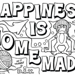 Graffiti Coloring Pages Happiness is Homemade
