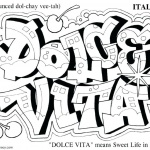 Graffiti Coloring Pages Hello Dolce Vita