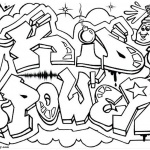Graffiti Coloring Pages Letters Kid Power