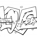 Graffiti Coloring Pages Letters Love