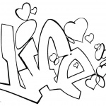 Graffiti Coloring Pages Letters Love Drawing