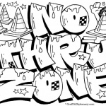 Graffiti Coloring Pages Letters No Thru Zone