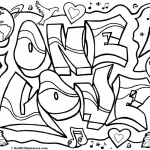 Graffiti Coloring Pages Letters One Love