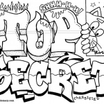 Graffiti Coloring Pages Letters Top Secret