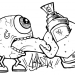 Graffiti Coloring Pages Line Art