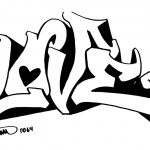 Graffiti Coloring Pages Line Art Letters Love
