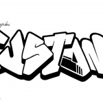 Graffiti Coloring Pages Line Drawing Letters Custom