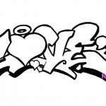 Graffiti Coloring Pages Love Lineart