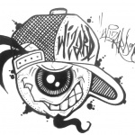 Graffiti Coloring Pages One Eye Character