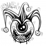 Graffiti Coloring Pages One Eye Monster