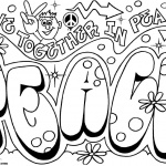 Graffiti Coloring Pages Peace