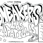 Graffiti Coloring Pages Sneakers Drawing