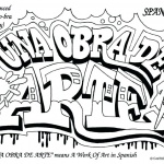 Graffiti Coloring Pages Spanish