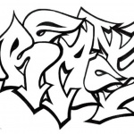 Graffiti Letters Coloring Pages