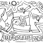 Graffiti Letters Coloring Pages VIP