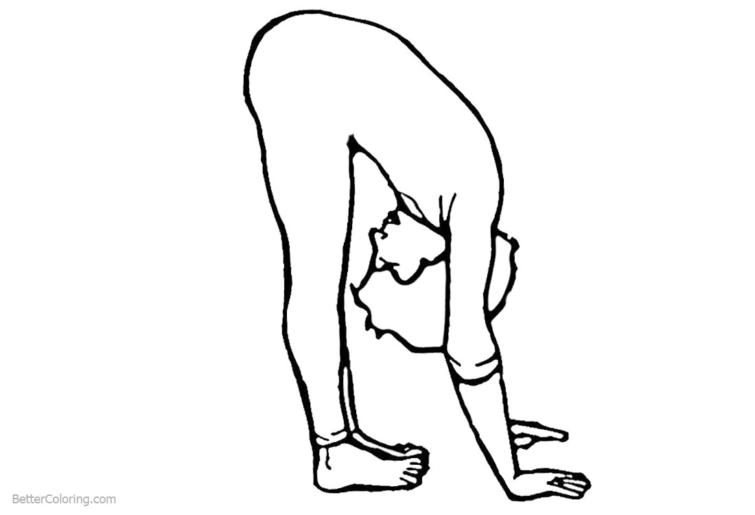 Gymnastics Coloring Pages Line Drawing printable for free