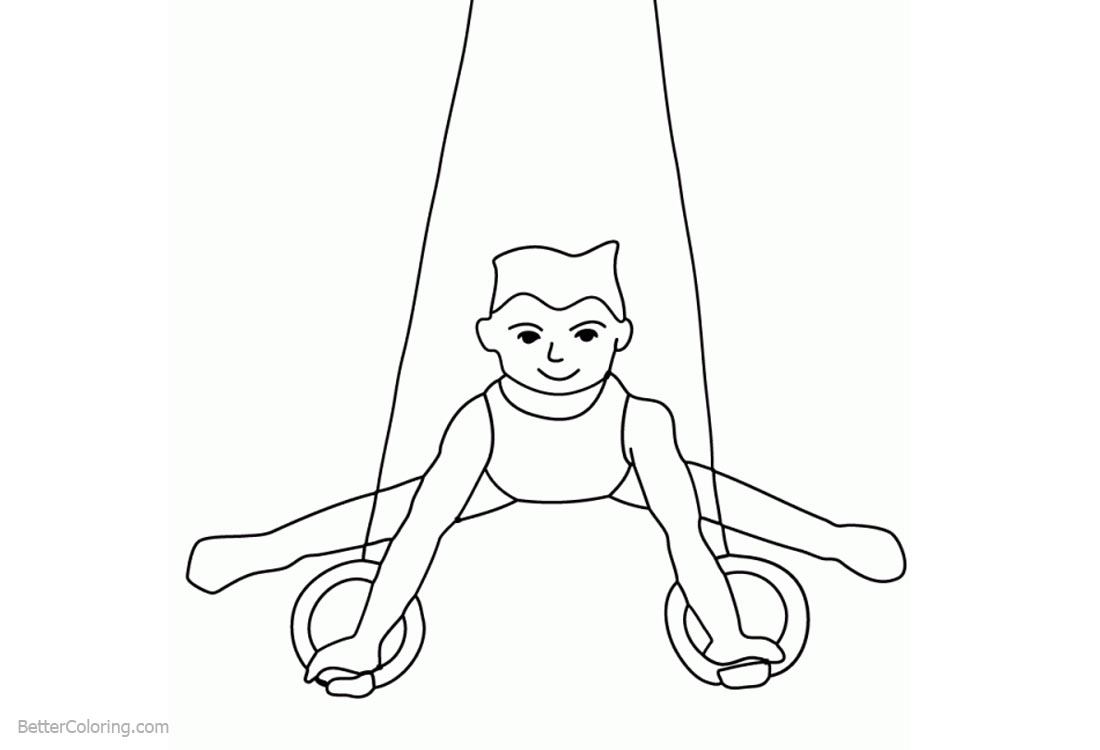 Gymnastics Coloring Pages Mens Rings