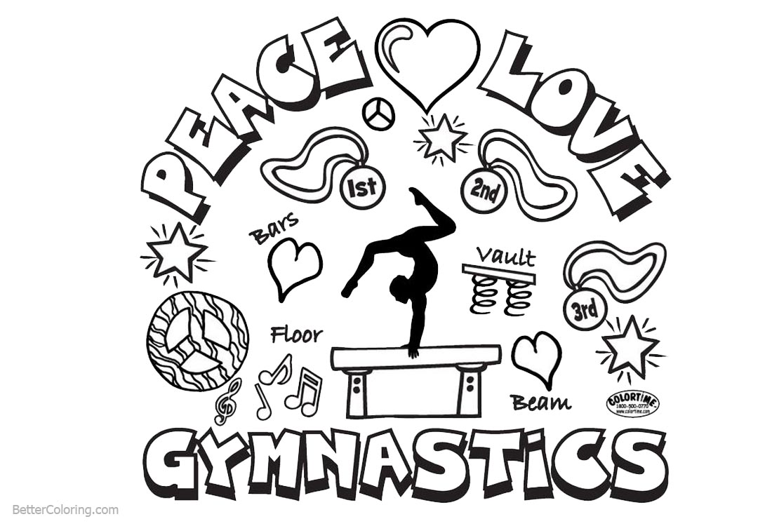 Gymnastics Coloring Pages Patterns printable for free