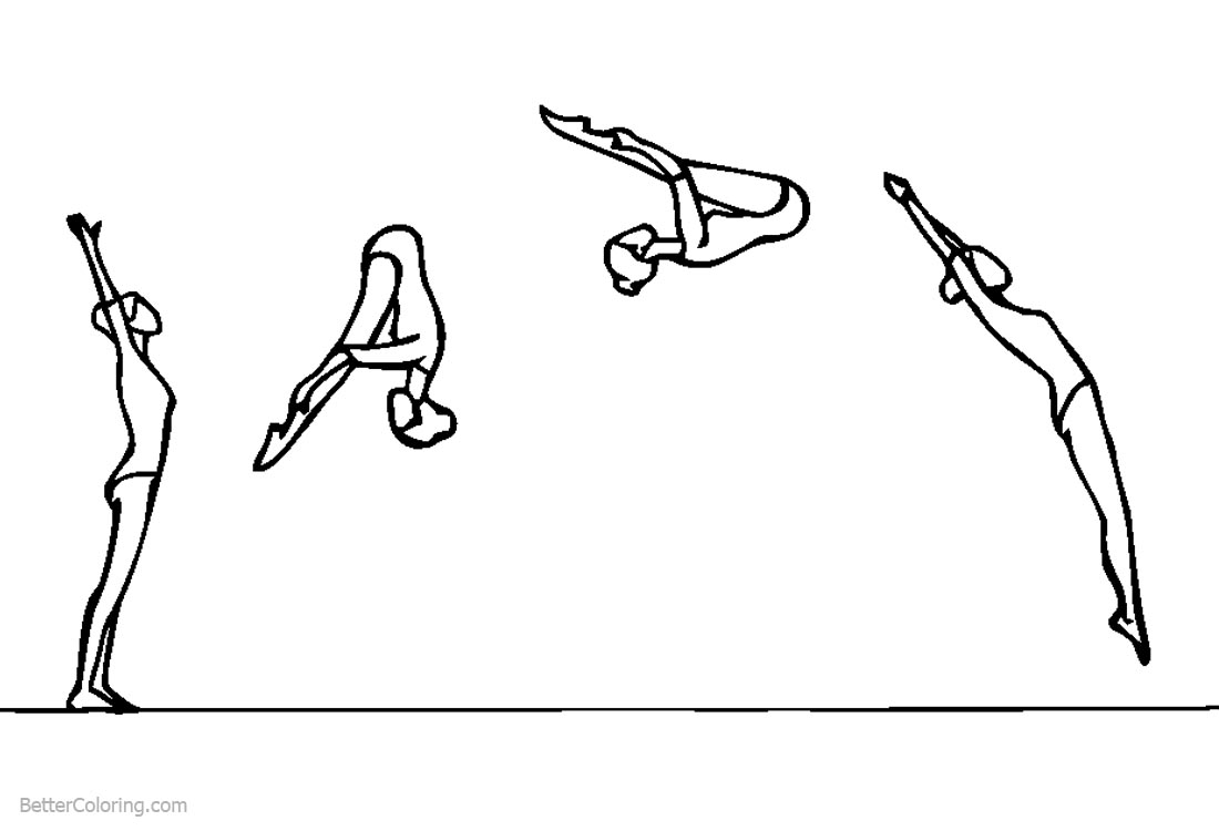 Gymnastics Coloring Pages Training printable for free