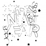Happy New Year Coloring Pages Connect Dots