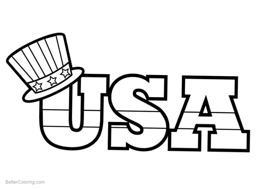 Hat of Patriotic Coloring Pages