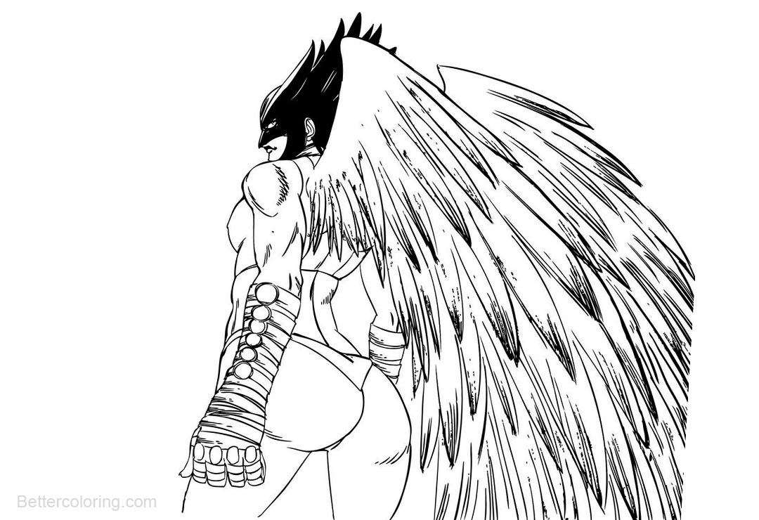 coloring pages hawkgirl | Hawkgirl Coloring Pages Sketch by claret821021 - Free ...