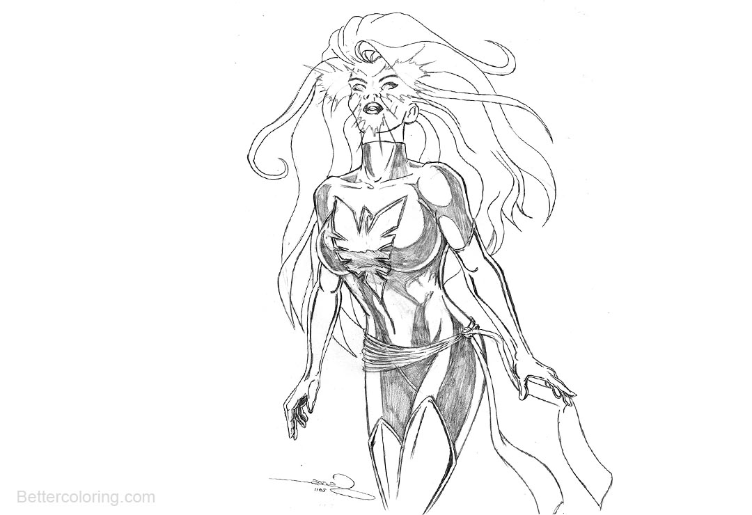 coloring pages hawkgirl | Hawkgirl from Justice League Coloring Pages Fanart - Free ...