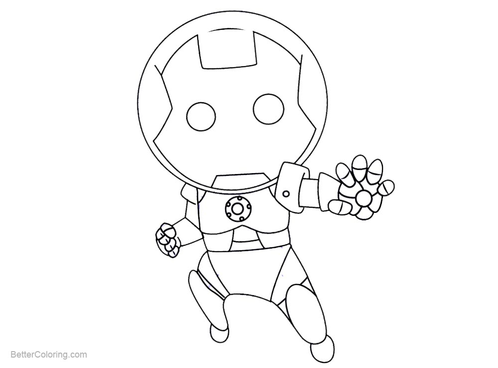 How To Draw Chibi Iron Man Coloring Pages