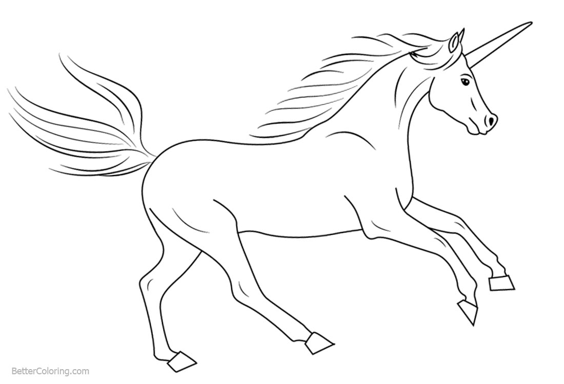 How to Draw Unicorn Coloring Pages printable for free