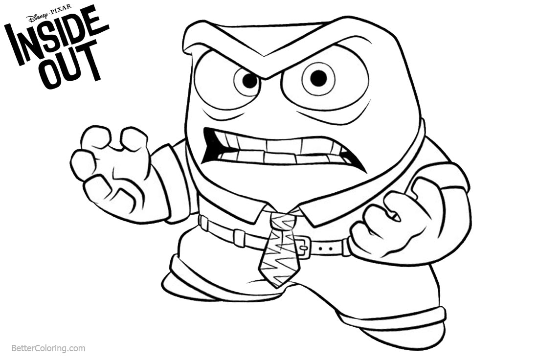 Inside Out Anger Coloring Pages