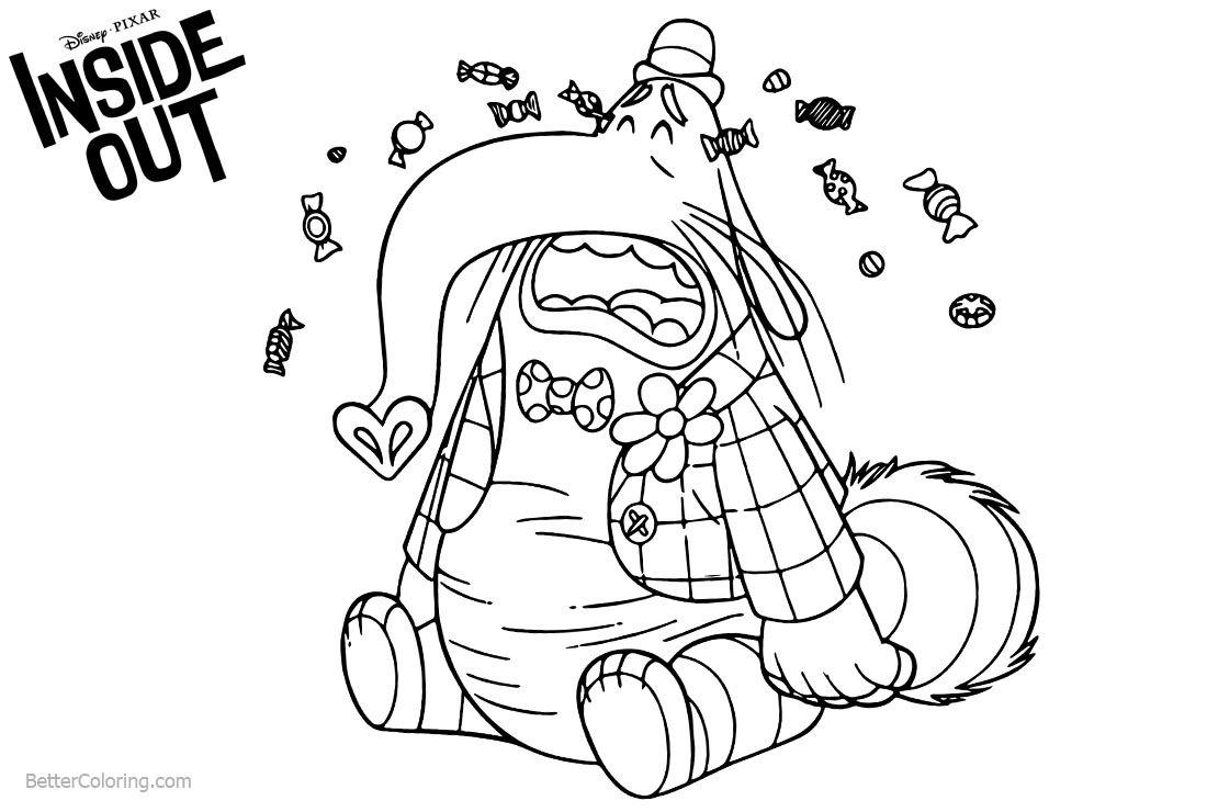 inside out bing bong coloring pages | Inside Out Coloring Pages Bing Bong Crying - Free ...