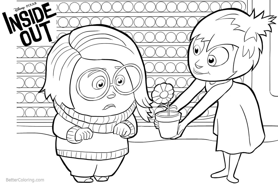 Inside Out Coloring Pages Joy Give