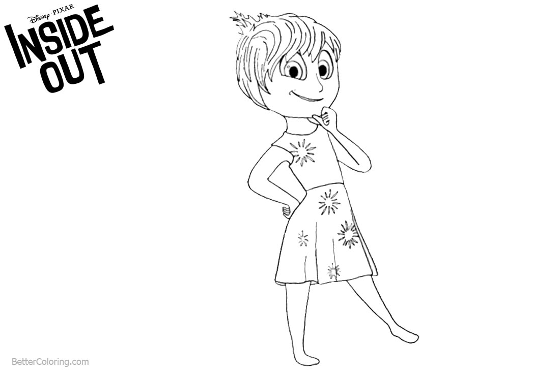 Inside Out Coloring Pages Joy Line