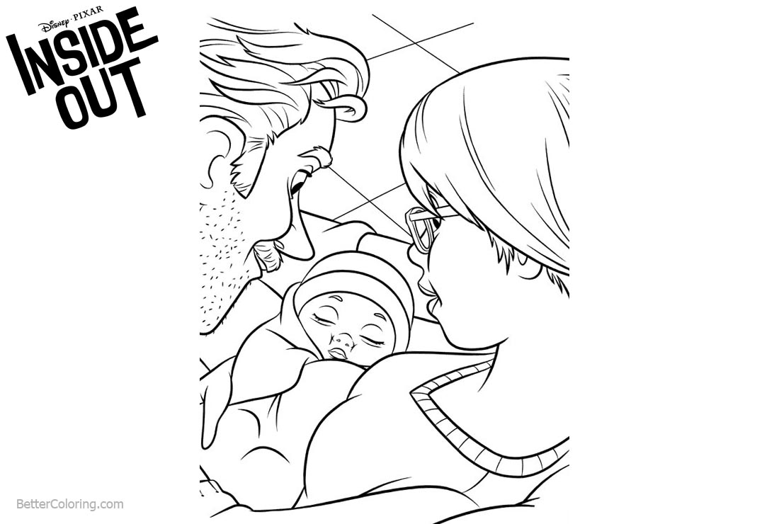 Inside Out Coloring Pages Newborn Baby printable for free