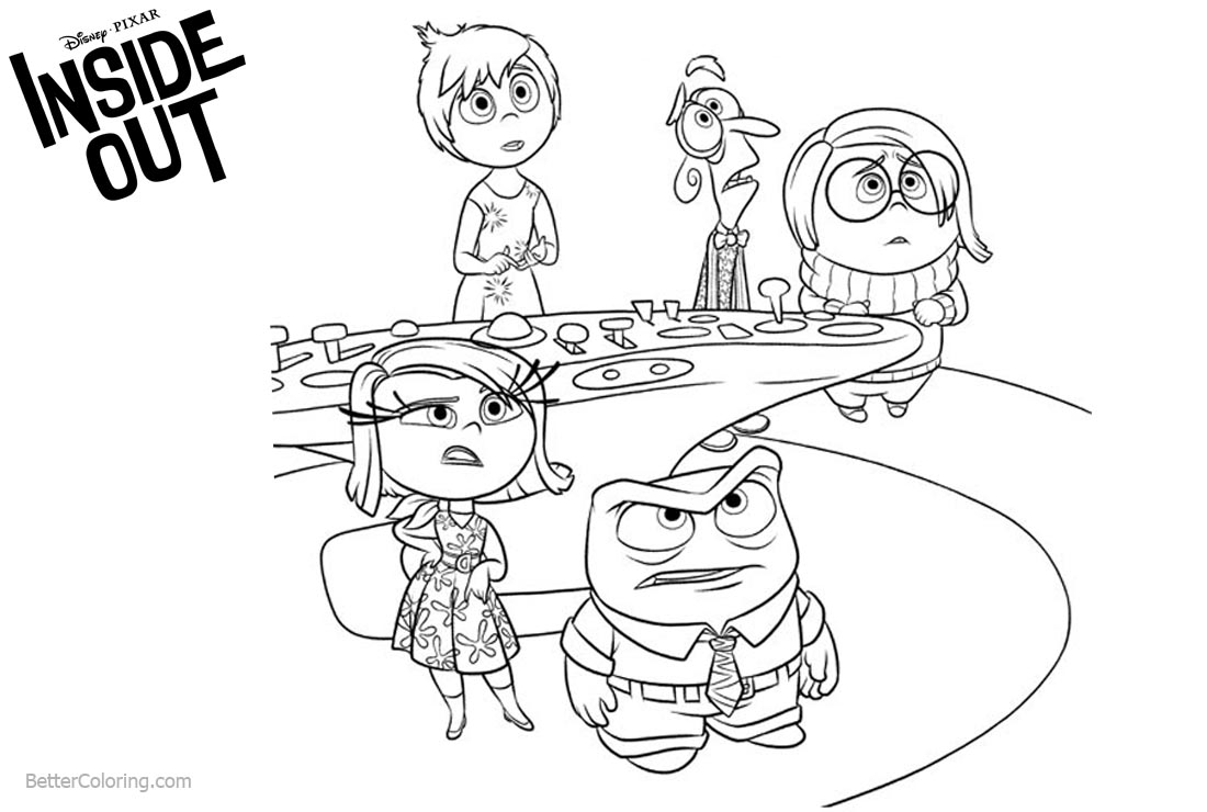Inside Out Coloring Pages What Happened printable for free