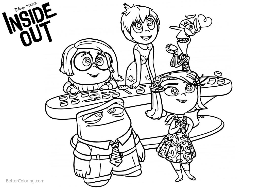 Inside out coloring pages free printable coloring pages for Inside out coloring pages