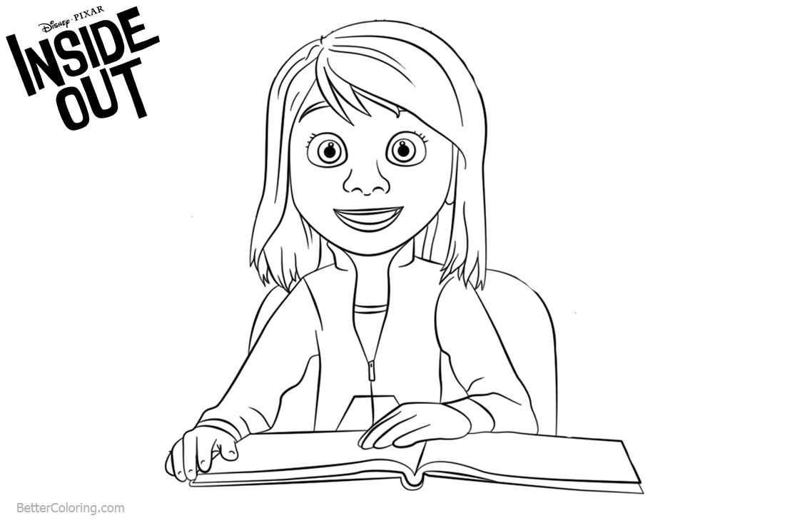 Inside Out Riley Coloring Pages printable for free
