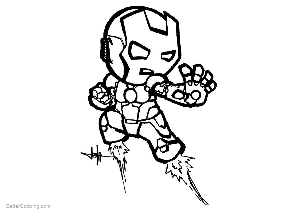 Free Iron Man Chibi Coloring Pages by Creeeeeees printable