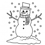 January Coloring Pages Snowman